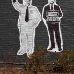 (Photo Courtesy Jon Truslow) TheBlankAdministration's graffiti art at 405 Centre St. as it appeared Sept. 20 after removal of the Obama image.