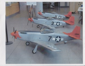 Vet displays Tuskegee Airmen plane models at VA hospital
