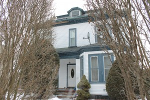 The historic house at 57 Wachusett St. slated for demolition. (Photo by Kate Sosin)