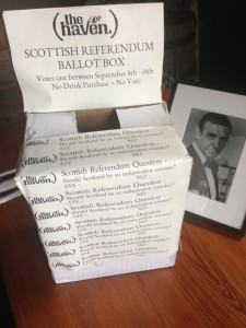 JP pub lets locals weigh in on Scottish independence